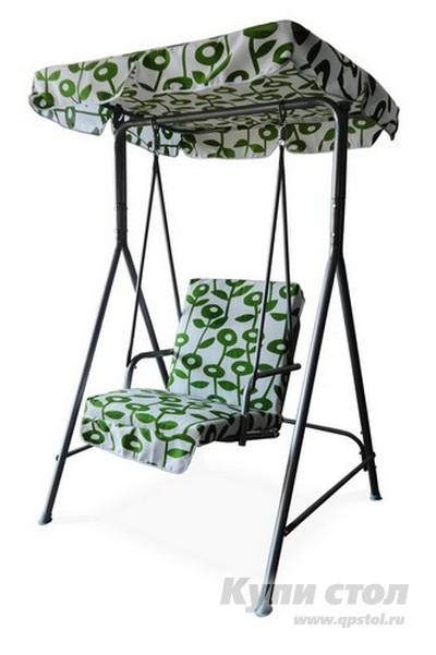 Качели Афина-мебель QF-63031 Белый с зеленым