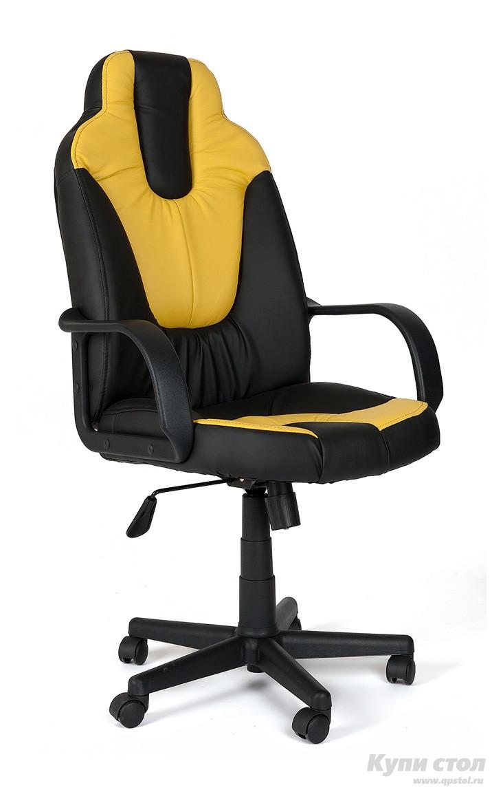 Компьютерное кресло Tetchair NEO (1) Иск. кожа черная / желтая