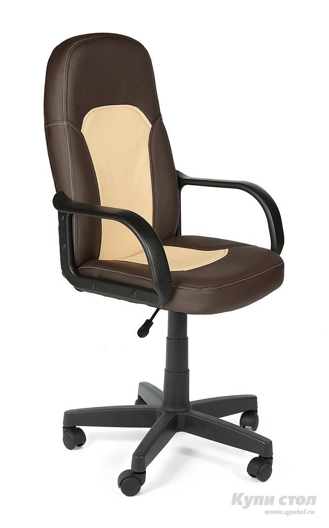 Кресло руководителя Tetchair Parma Иск. кожа коричневый / бежевый