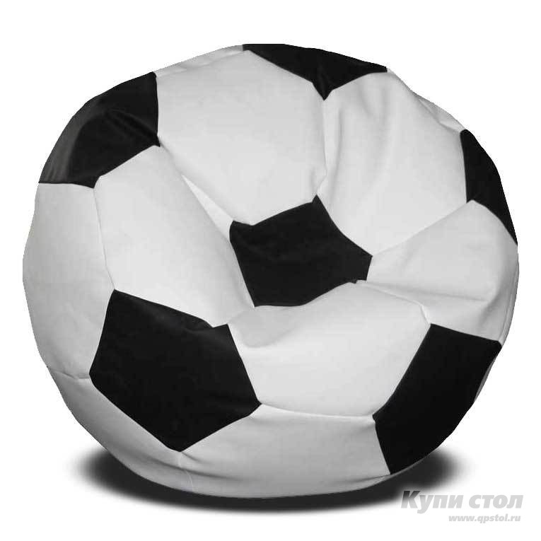 Кресло-мешок DreamBag Мяч Бело-черный