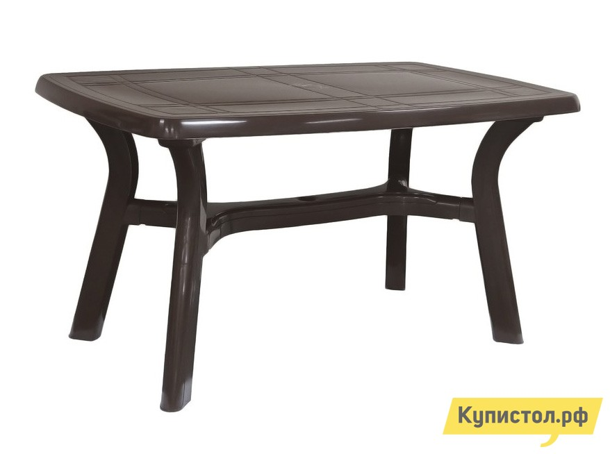 "Пластиковый стол Стандарт Пластик Стол ""Премиум"" (1400x850x728мм) Шоколадный"