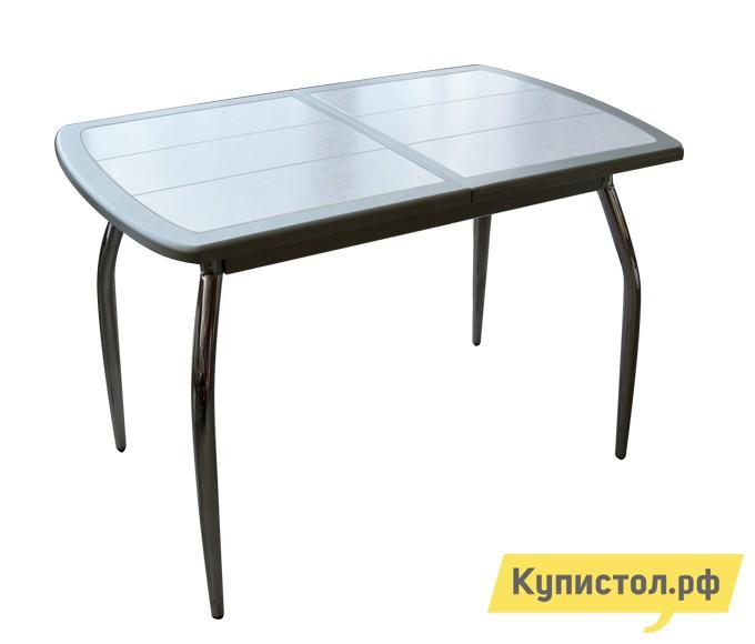 Кухонный стол Кубика Будапешт-1 (ноги хром) Серебро / Плитка 7014