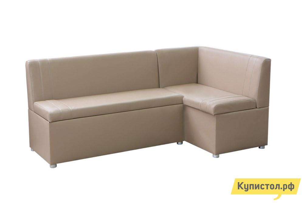 Кухонный уголок Боровичи Угловой диван Уют с ящиками Domus Ecru (эко кожа