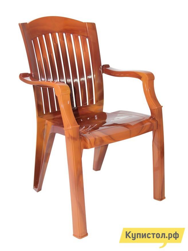 """Пластиковый стул Стандарт Пластик Кресло №7 """"Премиум-1"""" (560х450х900 мм) Лессир Лессир Мербау (коричневый)"""