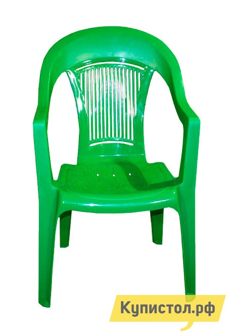 Пластиковый стул ЭЛП Кресло «Венеция» Зеленый