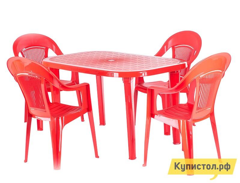 Набор пластиковой мебели ЭЛП Стол овальный + Кресло «Венеция»