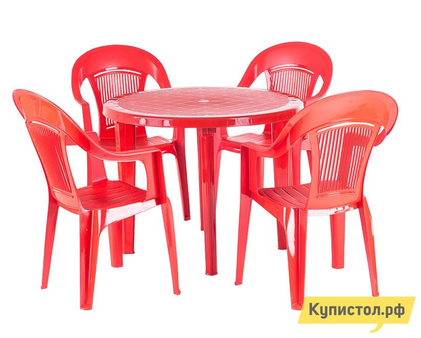 Набор пластиковой мебели ЭЛП Стол круглый + Кресло «Венеция»