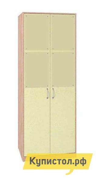 Шкаф детский Глазов-Мебель Шкаф для одежды 6 Дуб Отбеленый / Лимон