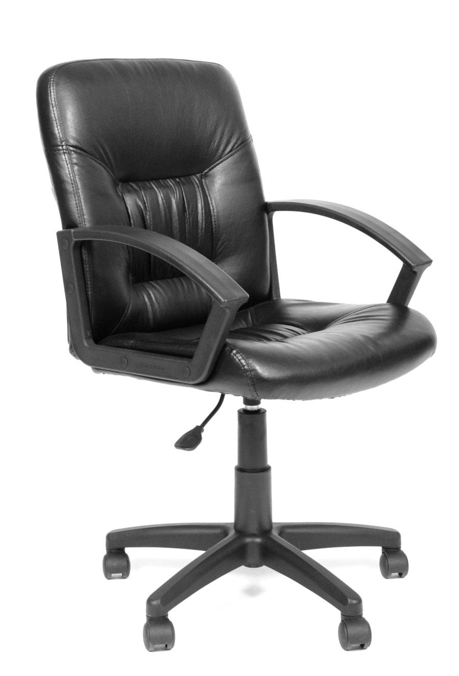 Офисное кресло Chairman СН 651 Эко-кожа черная глянец