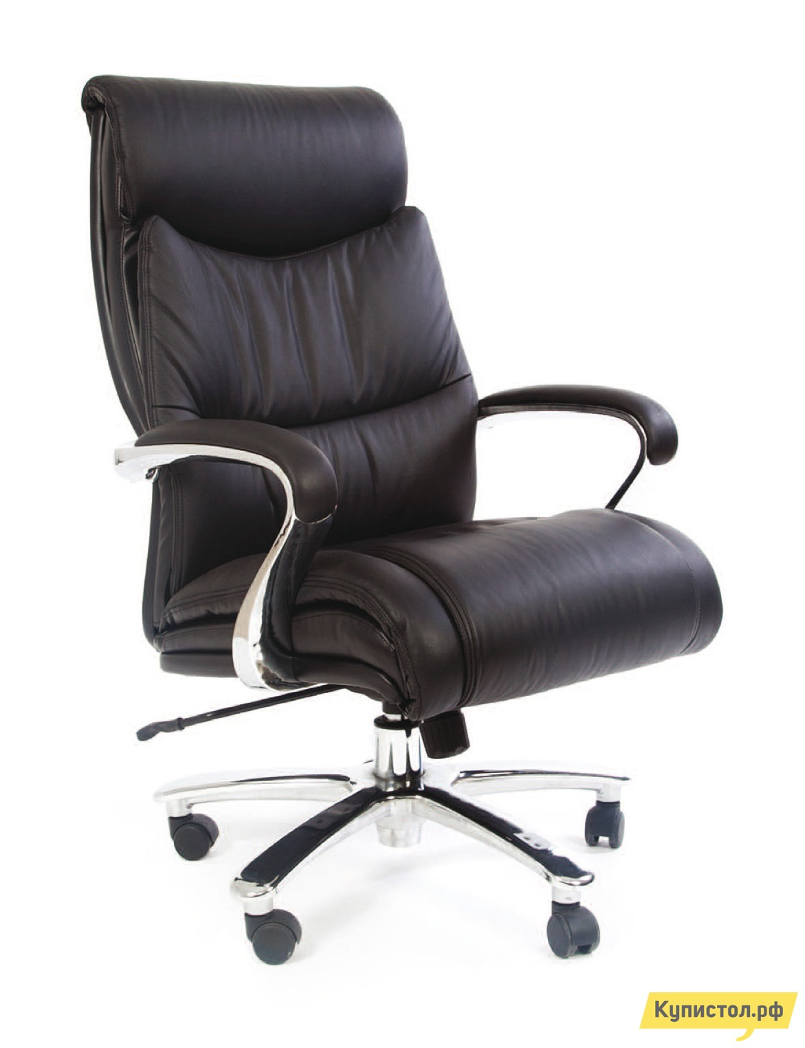 Кресло руководителя Chairman CH 401 Черная кожа
