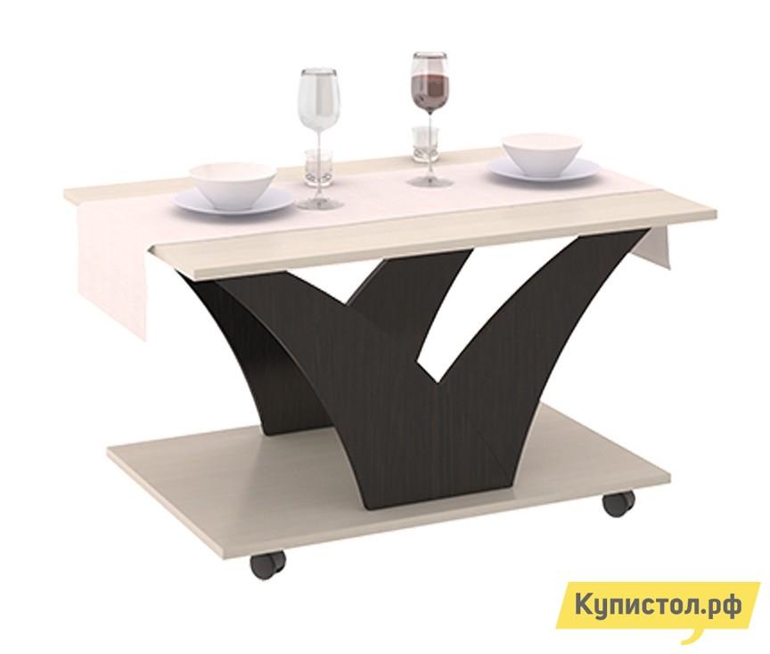 Журнальный столик ТриЯ Выкатной тип 4 Венге Цава / Молочный дуб