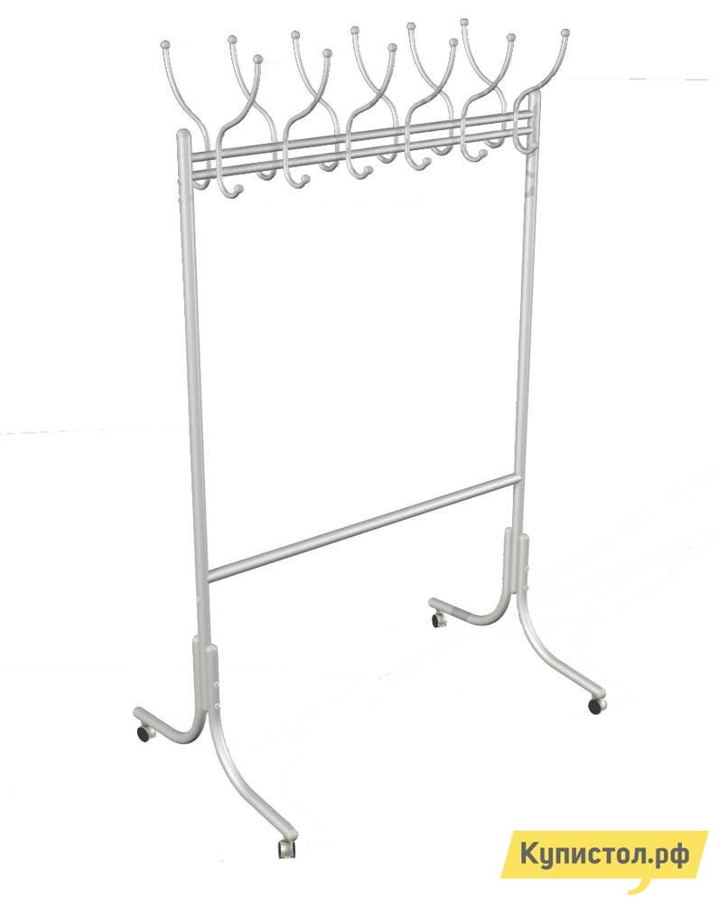 Гардеробная вешалка Мебелик М-11 на колесах Алюминий