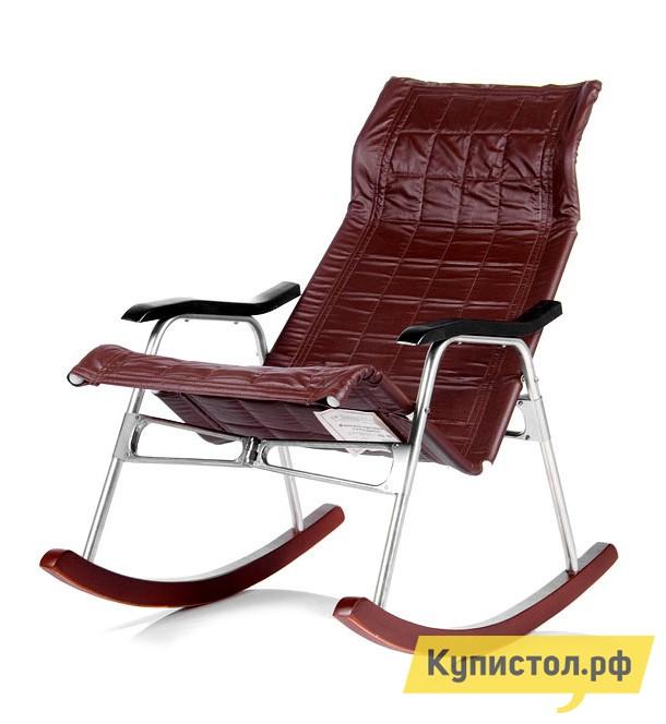 Кресло-качалка Мебель Импэкс Кресло-качалка складное Белтех Коричневая иск. кожа