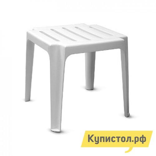 Пластиковый табурет Отдых с комфортом Табурет-столик (ГазСервис) Белый