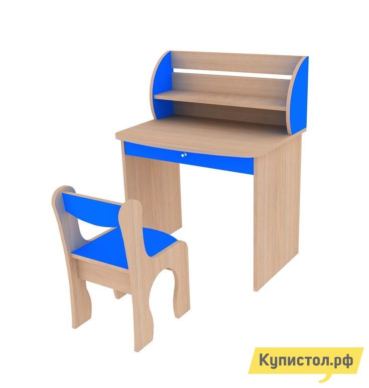 Столик и стульчик Мебельсон Морячок Дуб млечный / Голубой