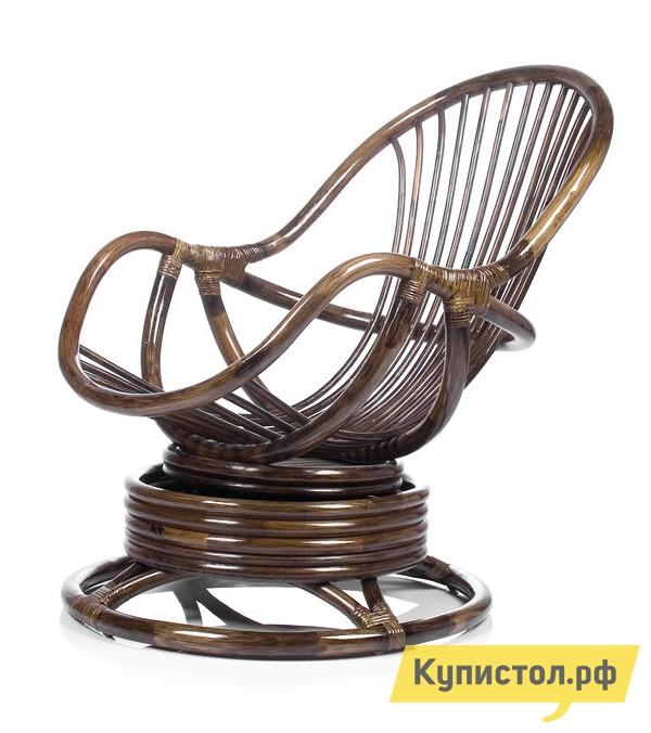 Плетеное кресло Мебель Импэкс Кресло-качалка Kara с подушкой Орех ротанг