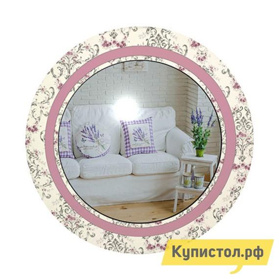 Настенное зеркало ZerkaloStudio Винтажные цветы 60 Х 60 см