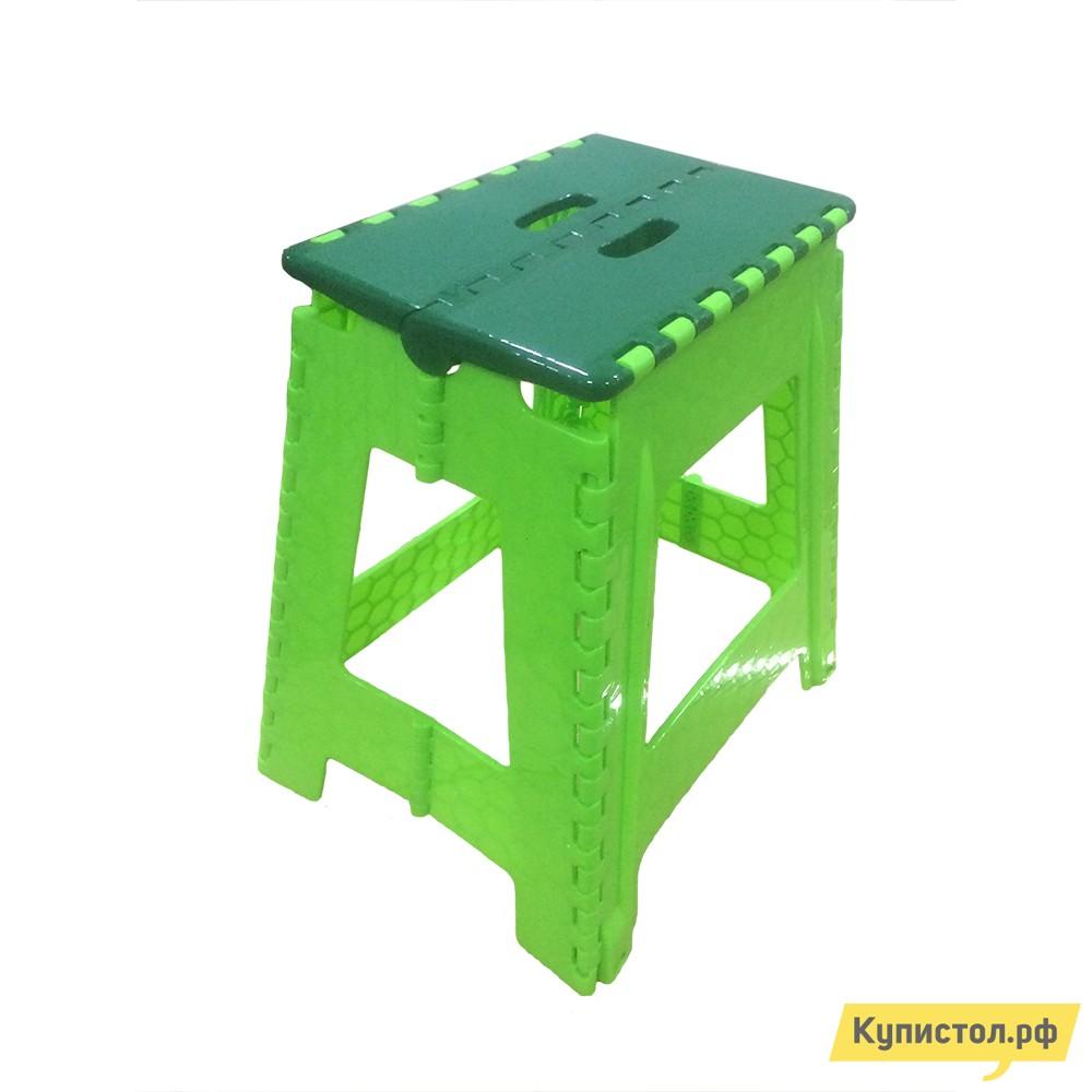 Пластиковый табурет Трикап Табурет большой складной высокий Зеленый / Салатовый