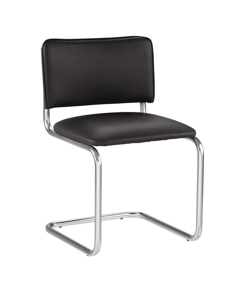 Офисный стул NOWYSTYL SYLWIA RU (BOX-4) Черная V-4 иск.кожа (с фактурой кожи)