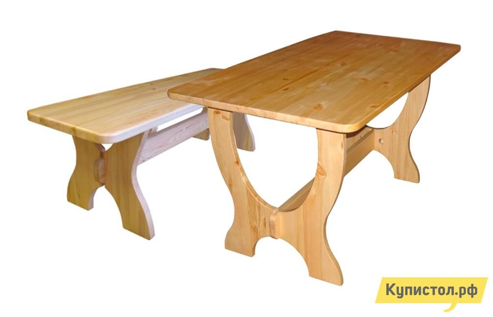 Комплект садовой мебели Добрый мастер Ом л + Ом Ширина 2000 мм