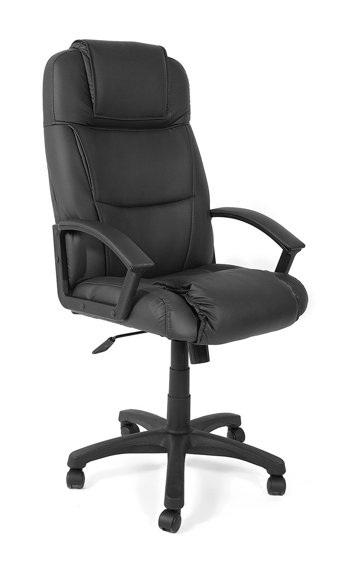Кресло руководителя Tetchair Bergamo Иск. кожа черная PU C36-6