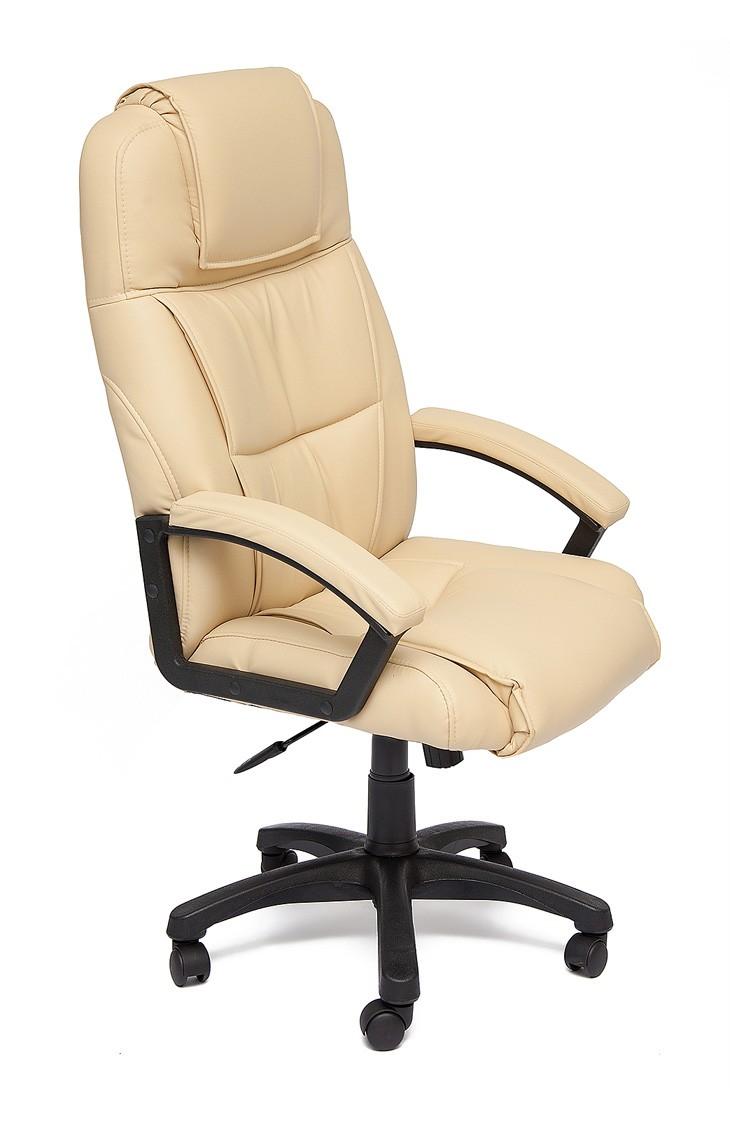 Кресло руководителя Tetchair Bergamo Иск. кожа бежевая PU C36-34