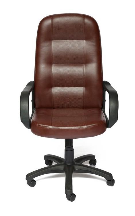 Кресло руководителя Tetchair Devon Иск.кожа коричневая перфор. (36-36/36-36/06)