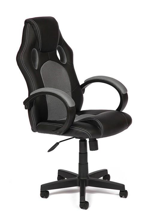 Компьютерное кресло Tetchair RACER GT Иск.кожа черная / Ткань серая