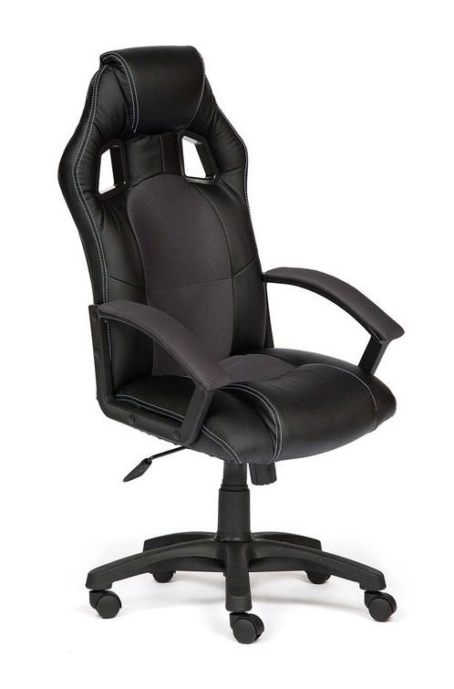 Компьютерное кресло Tetchair Driver Иск.кожа черная / Ткань серая