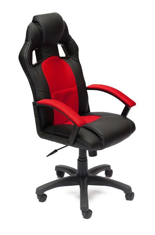 Компьютерное кресло Tetchair Driver Иск.кожа черная / Ткань красная