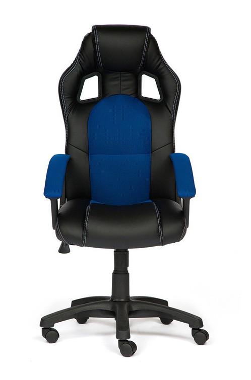 Компьютерное кресло Tetchair Driver Иск.кожа черная / Ткань синяя
