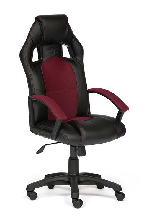 Компьютерное кресло Tetchair Driver Иск. кожа черная / Ткань бордо