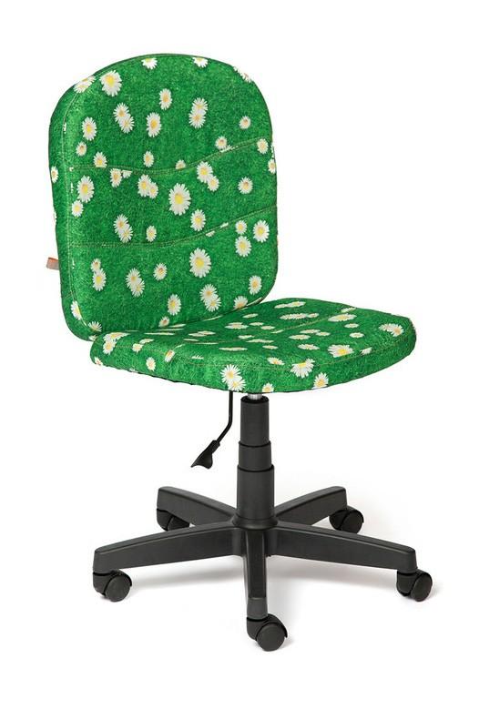 Офисное кресло Tetchair STEP Ткань «Ромашки на зеленом»