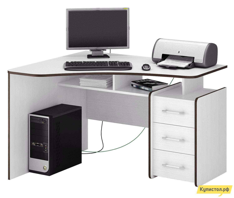 Компьютерный стол МФ Мастер Триан-5 Белый
