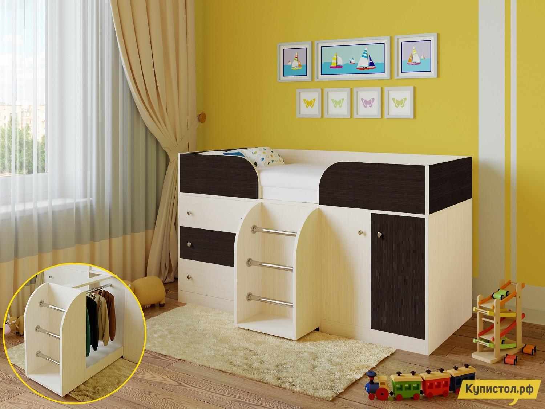 Кровать-чердак РВ Мебель Астра-5 Дуб Молочный Дуб Молочный / Венге