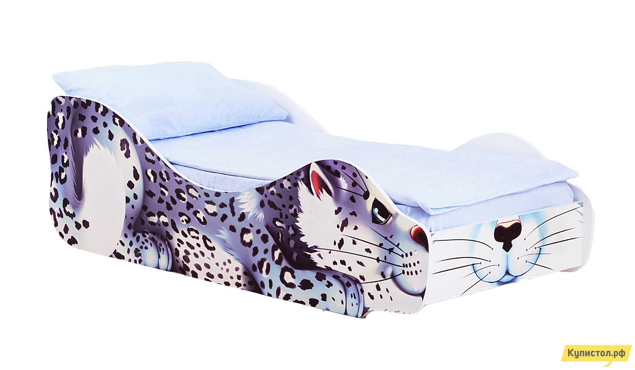 Кровать-машина Бельмарко Барс Снежок Белый