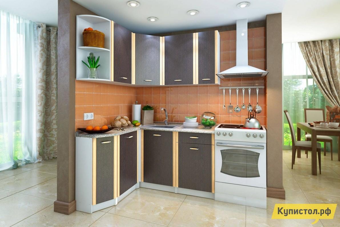 Кухонный гарнитур СтолЛайн СТЛ.123.00 Корпус Белый / Фасады Венге