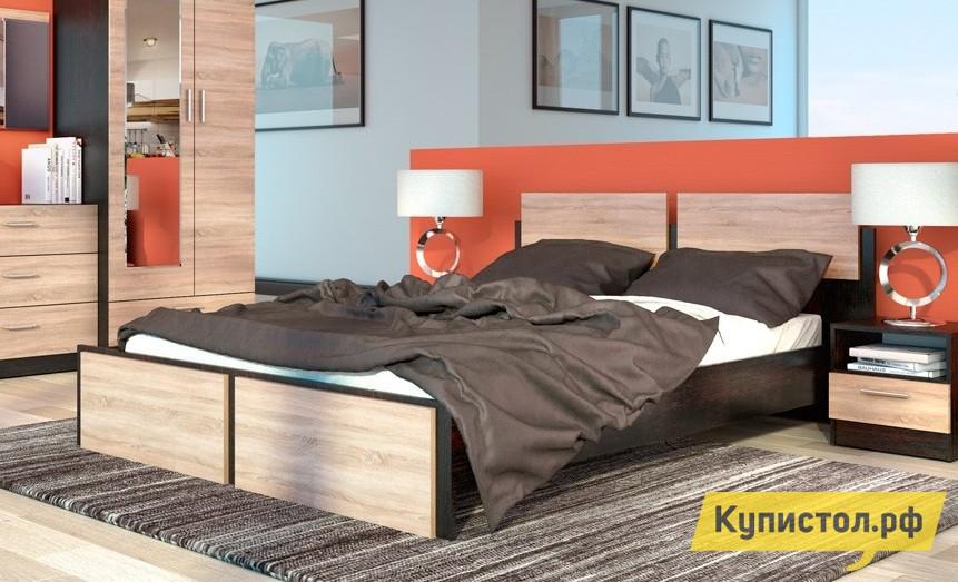 Кровать СтолЛайн СТЛ.142.04 Дуб Феррара / Дуб Сонома (Флёр)