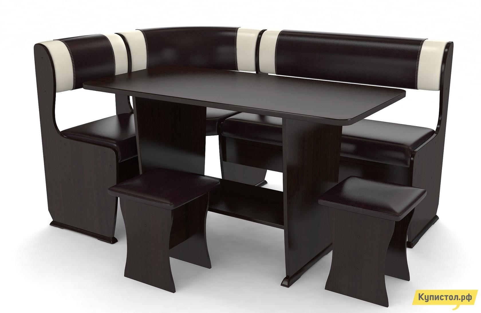 Кухонный уголок Маэстро Консул-1 Венге / Шоколад светлый-темный