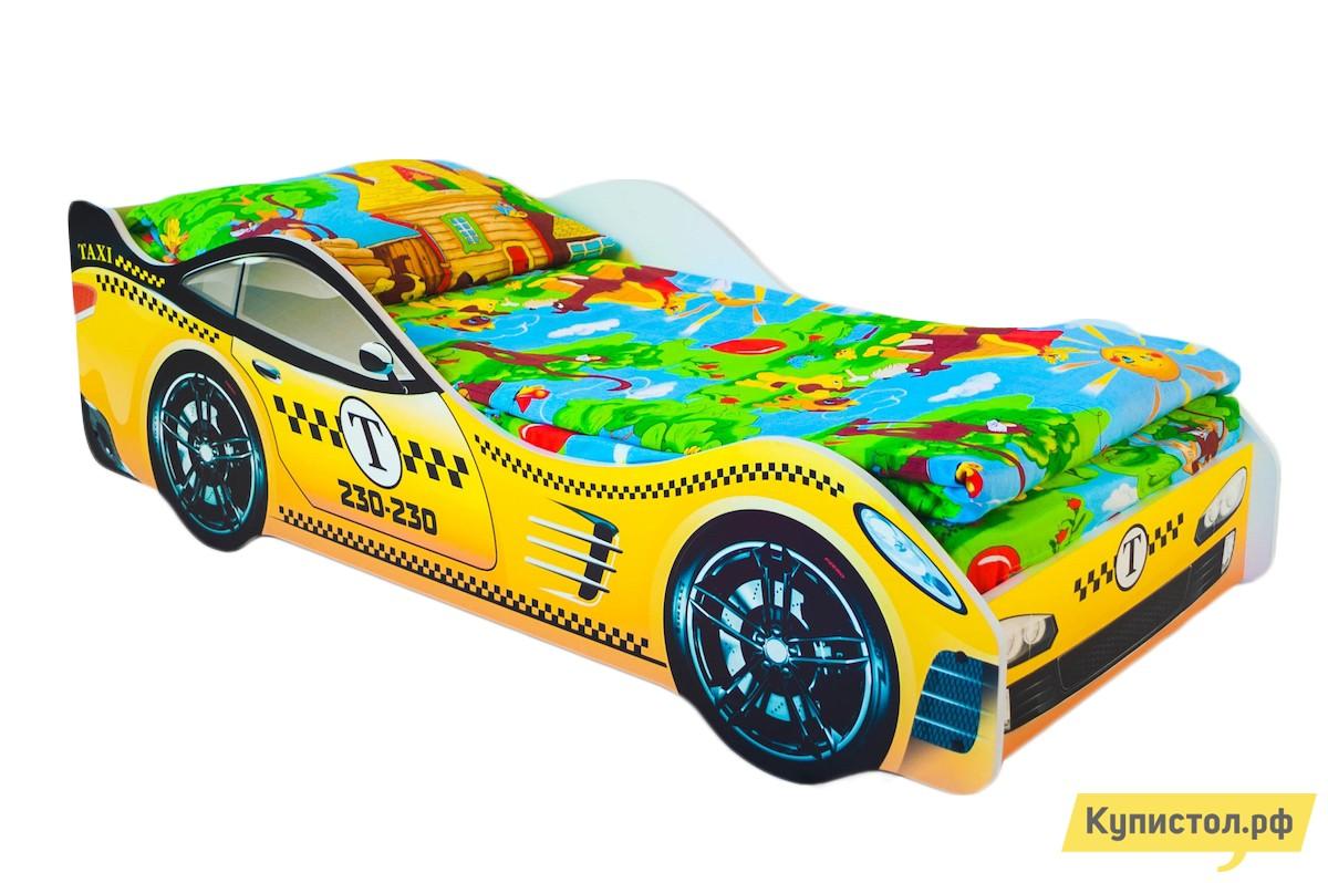 Кровать-машина Бельмарко Такси Желтый