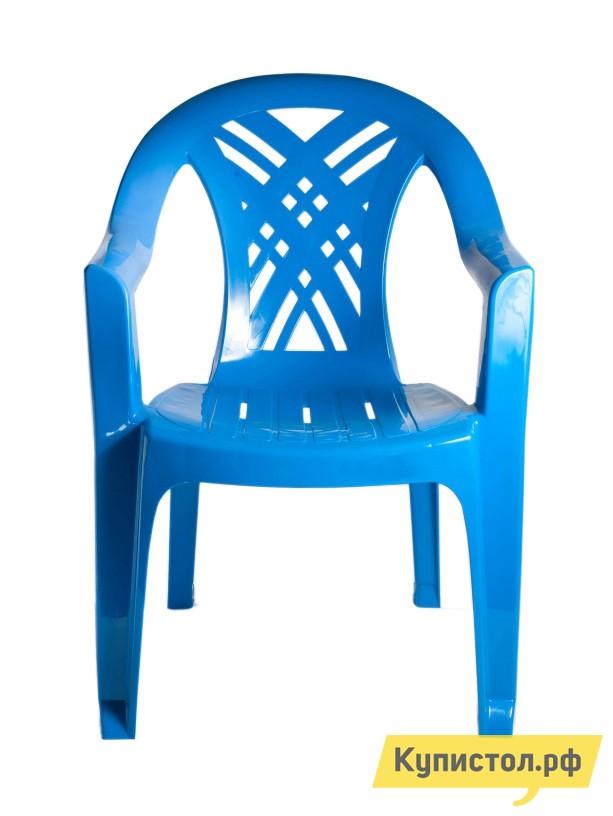 "Пластиковый стул Стандарт Пластик Кресло №6 ""Престиж-2"" (660x600x840мм) Синий"