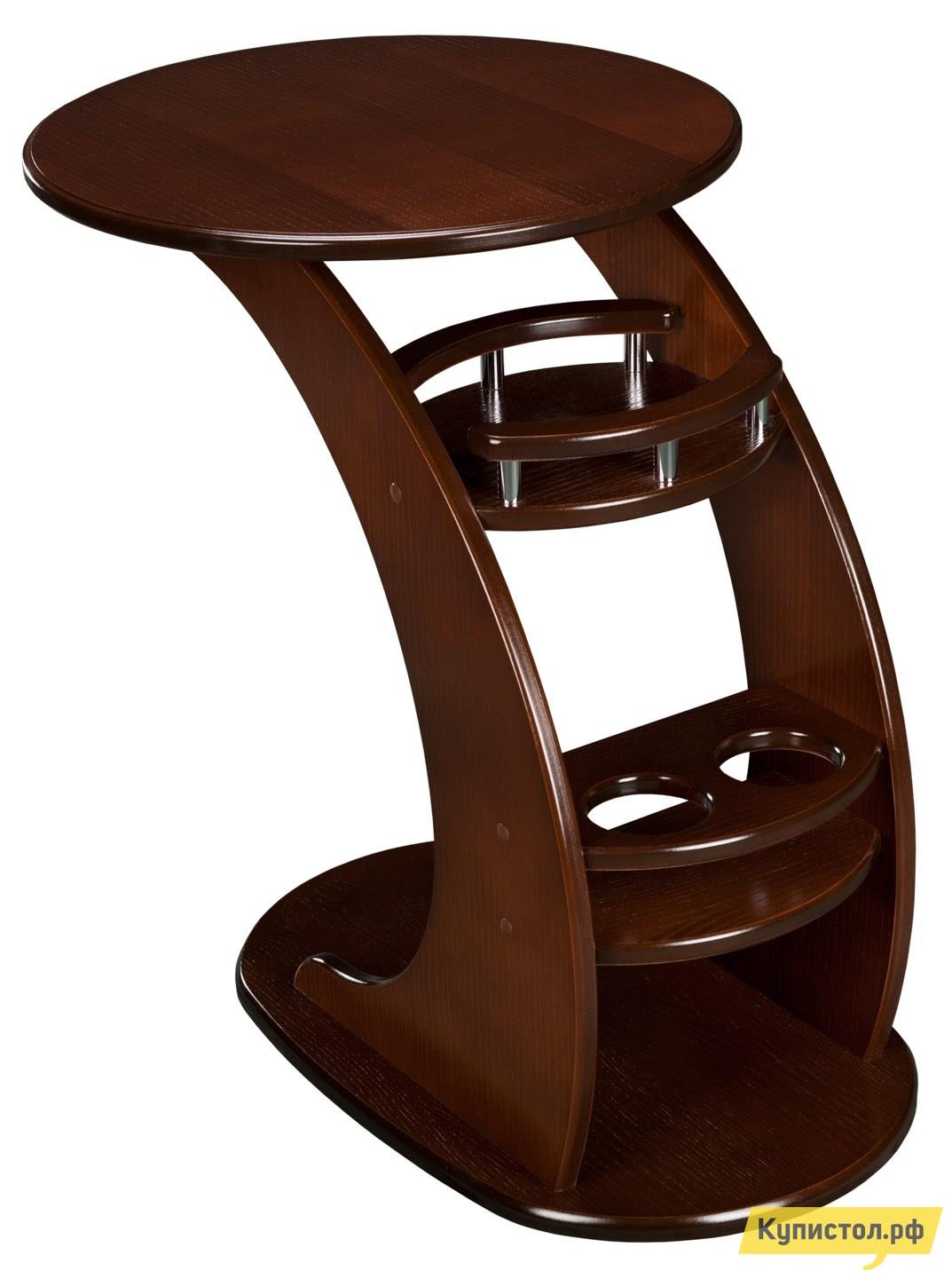 Сервировочный столик Висан Придиванный столик Люкс Орех шпон