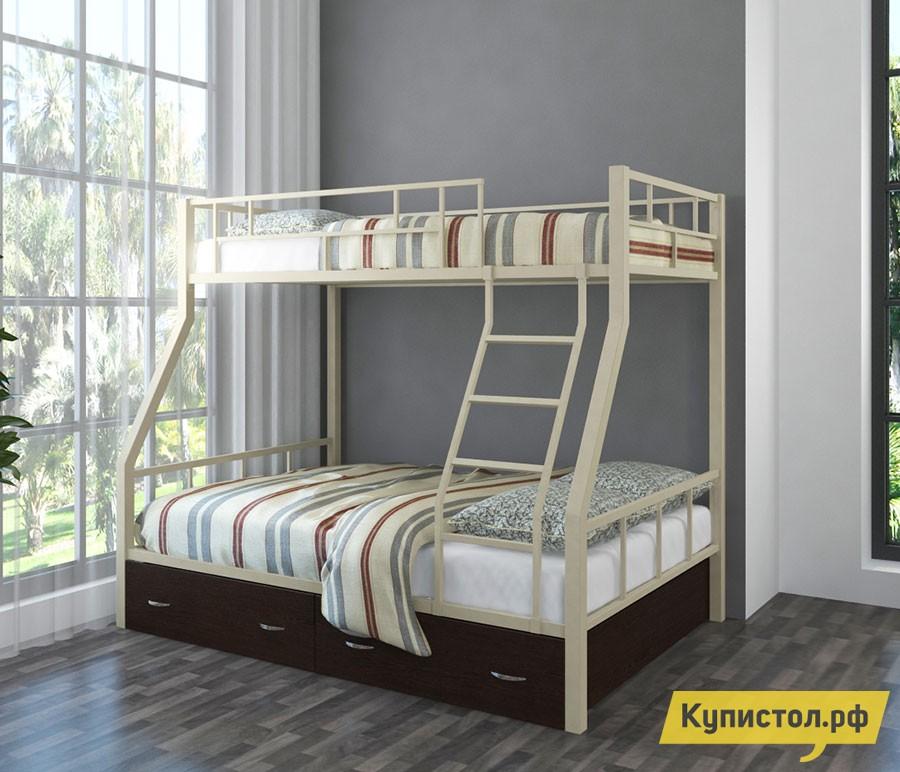 Кровать 4 Сезона Раута с ящиками Слоновая кость
