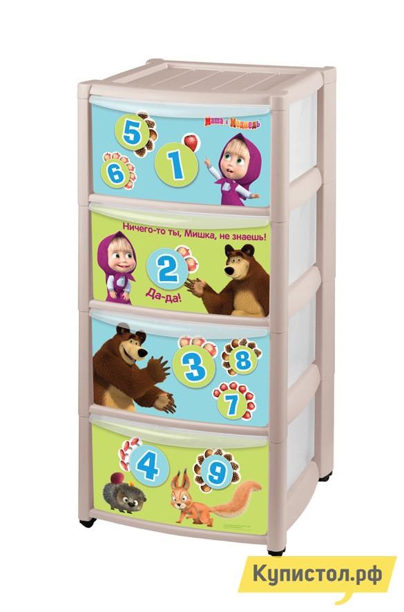 Комод детский Маша и Медведь 4313029 Бежевый