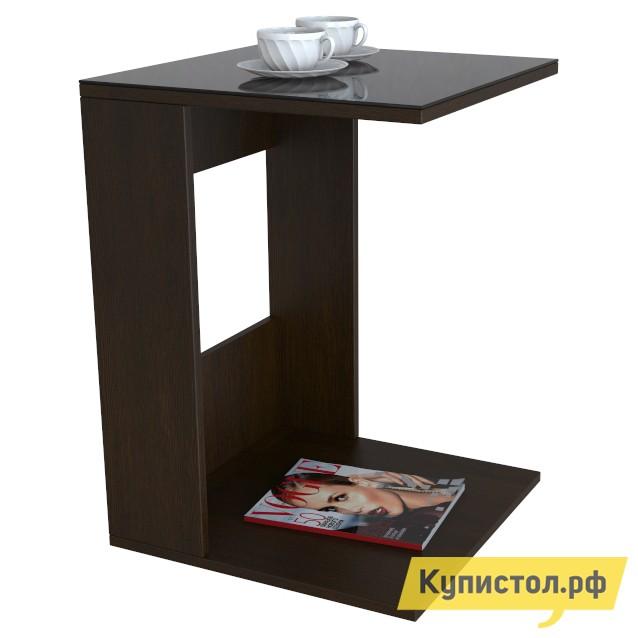 Журнальный столик Мебелик BeautyStyle 3 Венге / Стекло черное