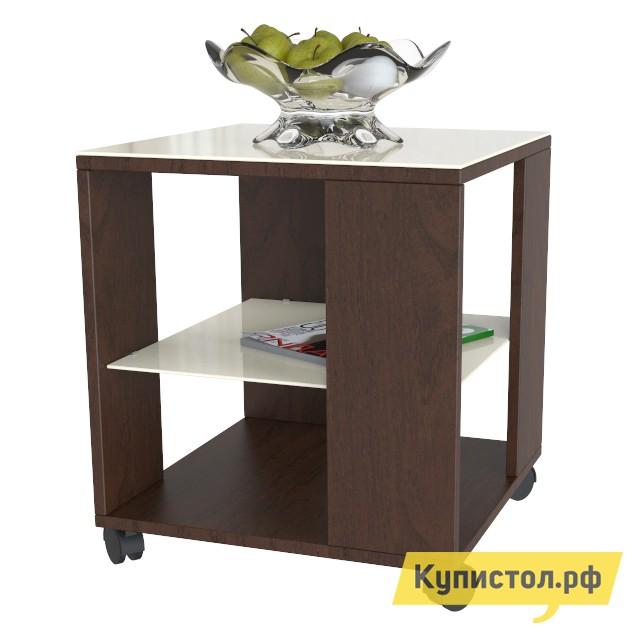 Журнальный столик Мебелик BeautyStyle 6 Темно-коричневый / Стекло бежевое