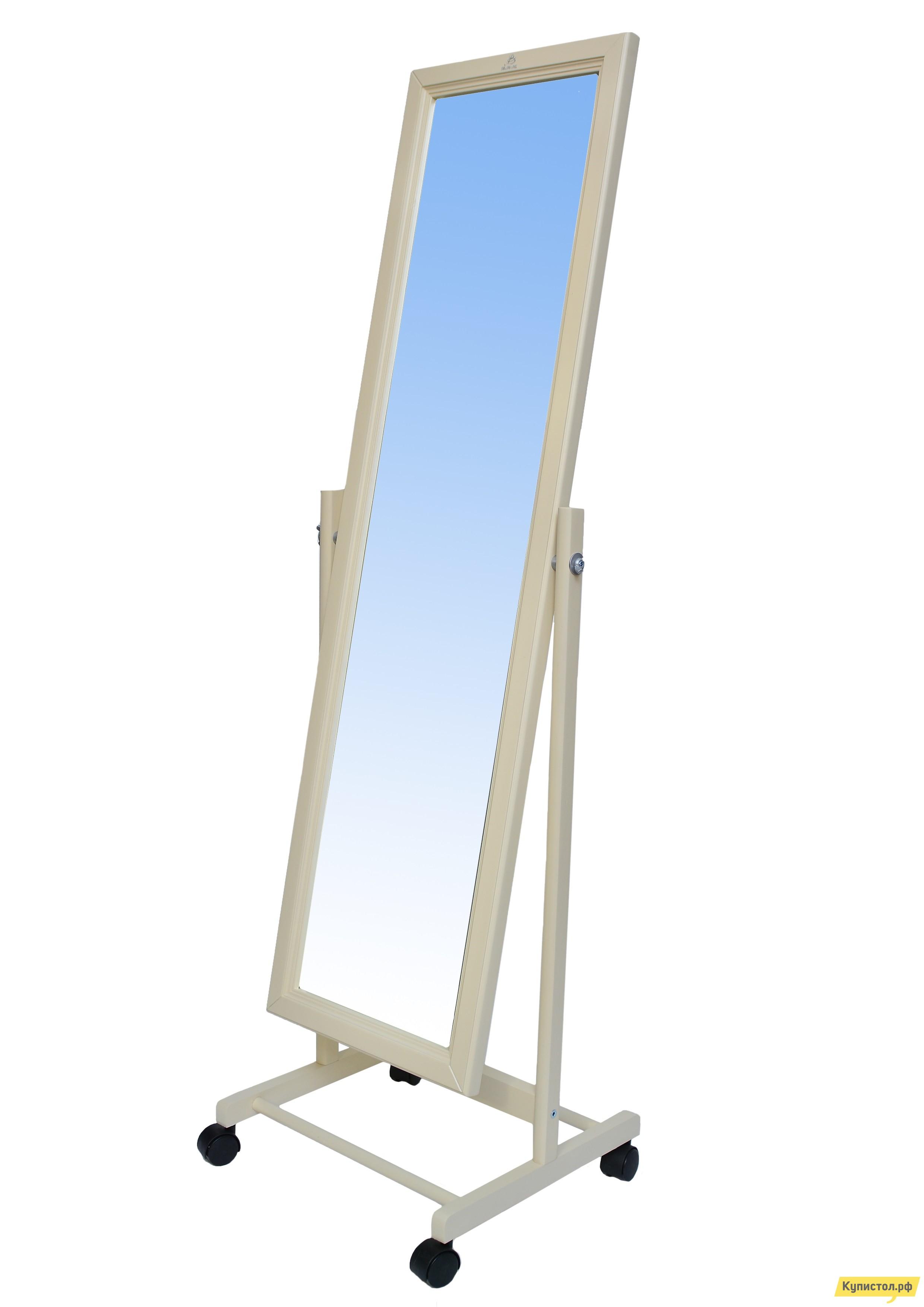 Напольное зеркало Мебелик В 27Н Слоновая кость