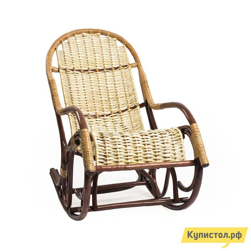 Кресло-качалка Мебель Импэкс Кресло-качалка Усмань Орех / Светлая лоза
