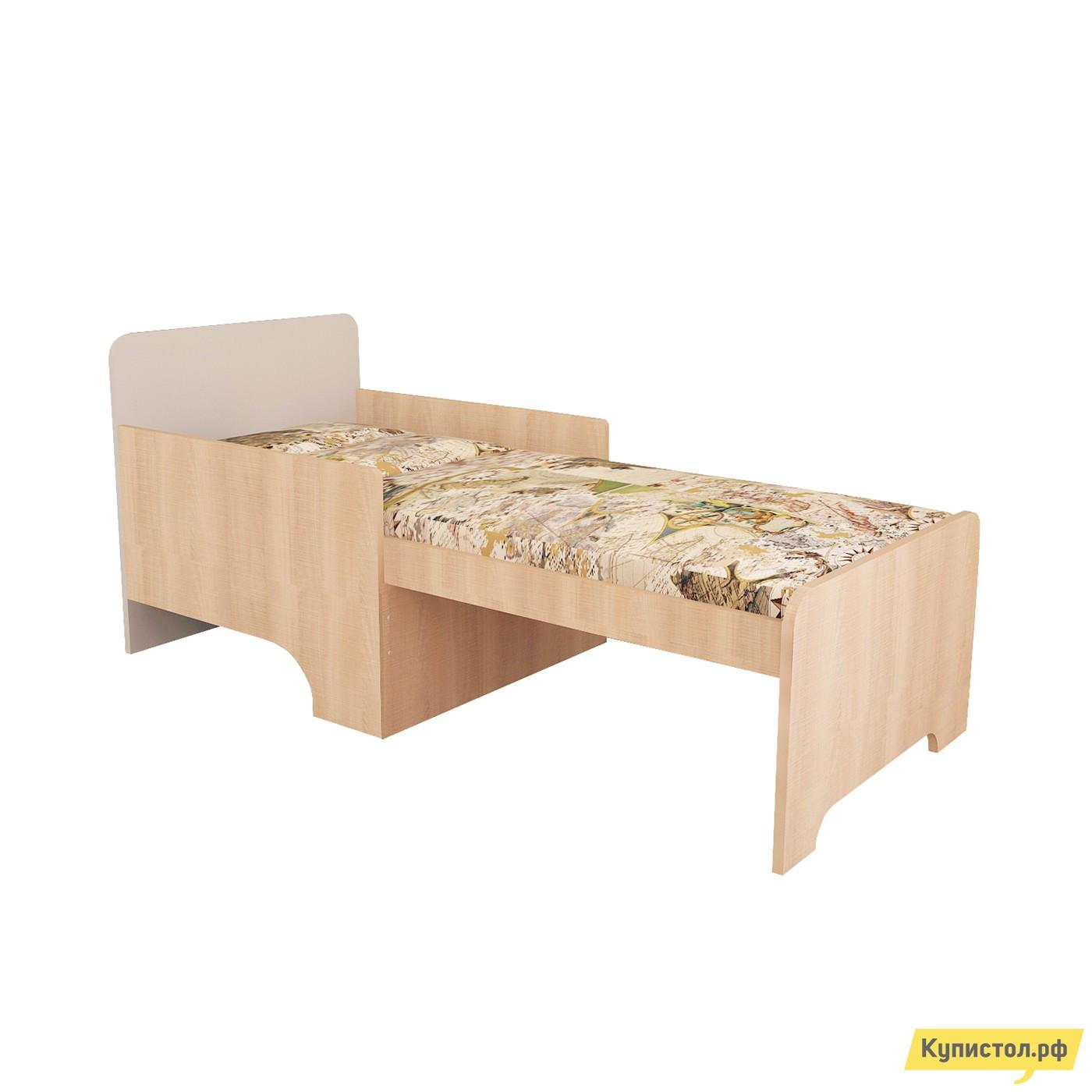 Детская кровать МО РОСТ Кровать вырастайка Первой цены Мадейра / Серый