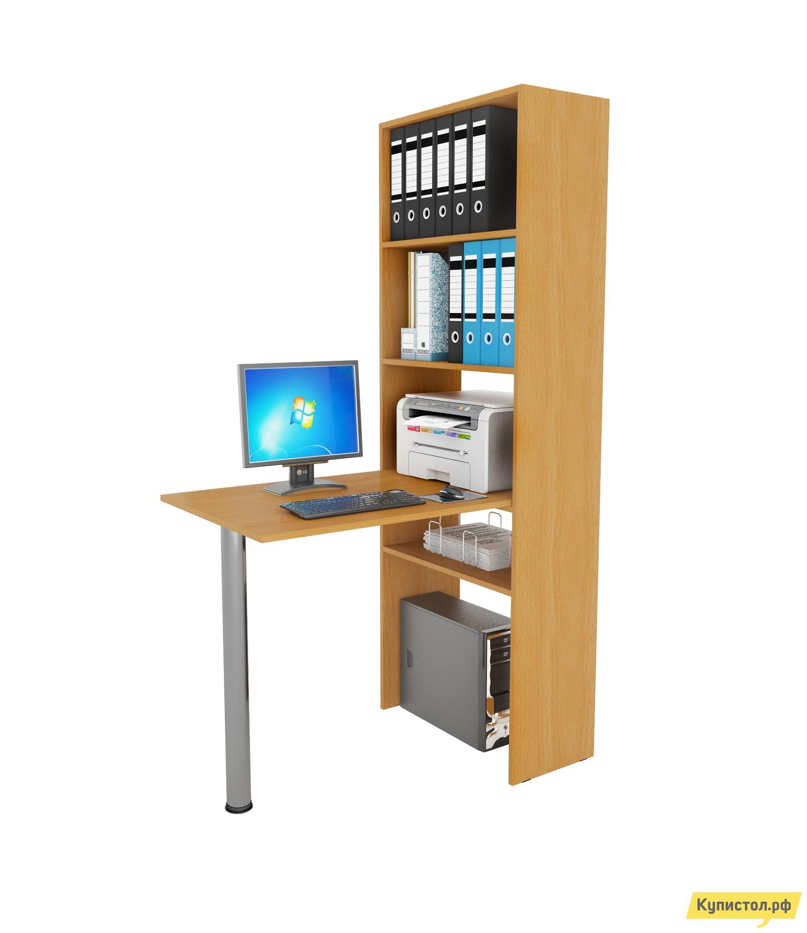 Компьютерный стол МФ Мастер Рикс-4 + Рикс-6 Бук